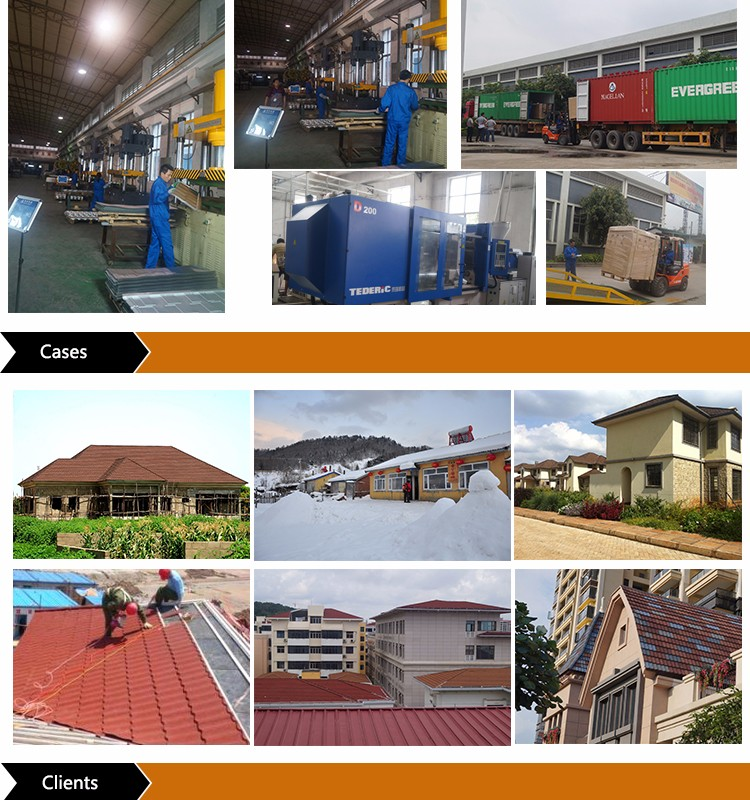 Wanael building material stone Chip Coated Steel Roof Tiles for Slaes