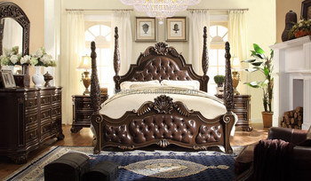 Luxurious American Solid Wood Hand Carved California King Size Bedroom Set View American Wooden Bedroom Set Bisini Product Details From Zhaoqing