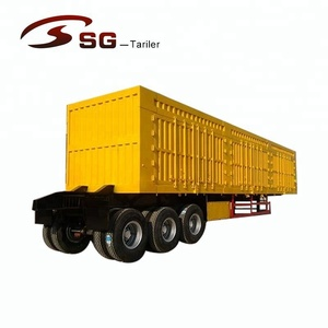 china low price 2 axle 40 ton 3 axles 60 ton side tipper truck trailer tipping back trailer U box dump semi trailer for sale
