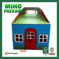 Miho high quanlity custom corrugated handle bedding packing box