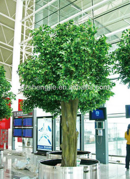 outdoor large artificial ficus tree with plastic leaves - Ficus Trees