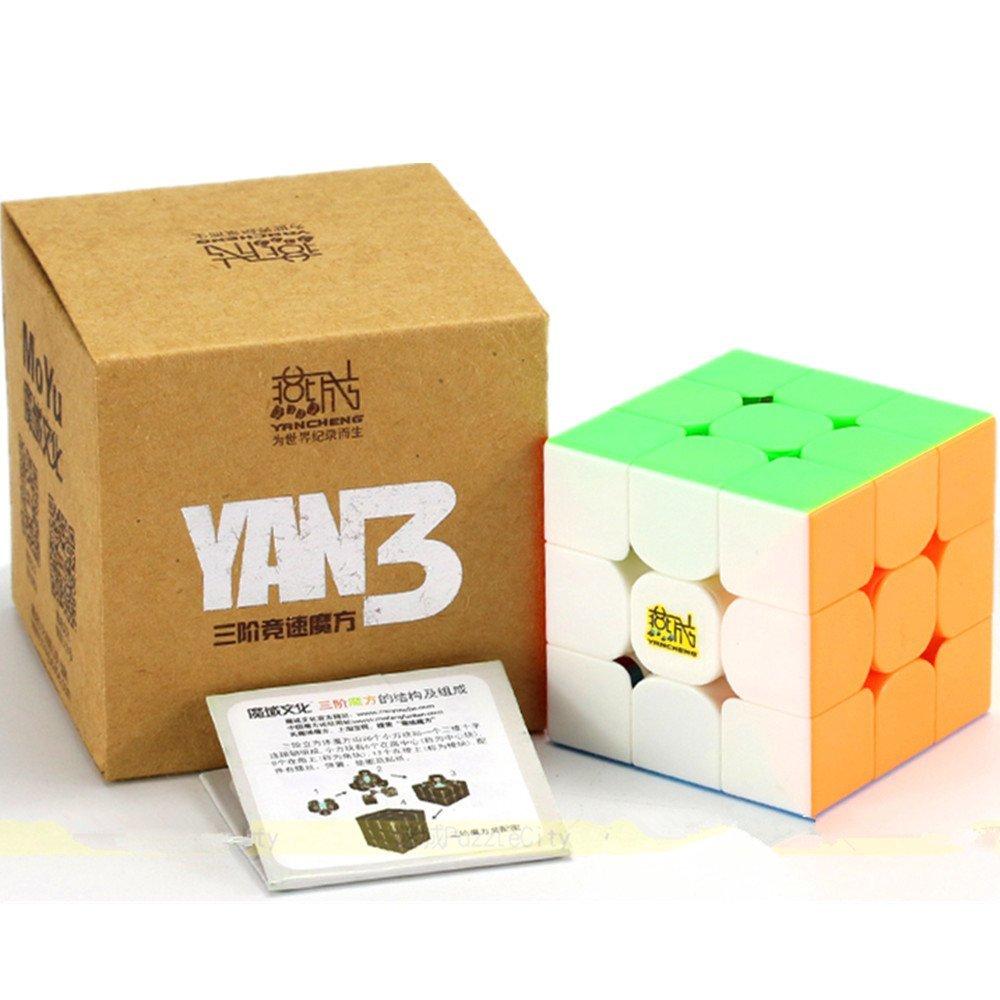 CuberSpeed Moyu YanCheng YAN3 3x3 stickerless Bright Magic cube YAN 3 YanCheng YAN3 Speed cube