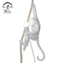 High quality creative living room hanging suspended modern monkey pendant lights