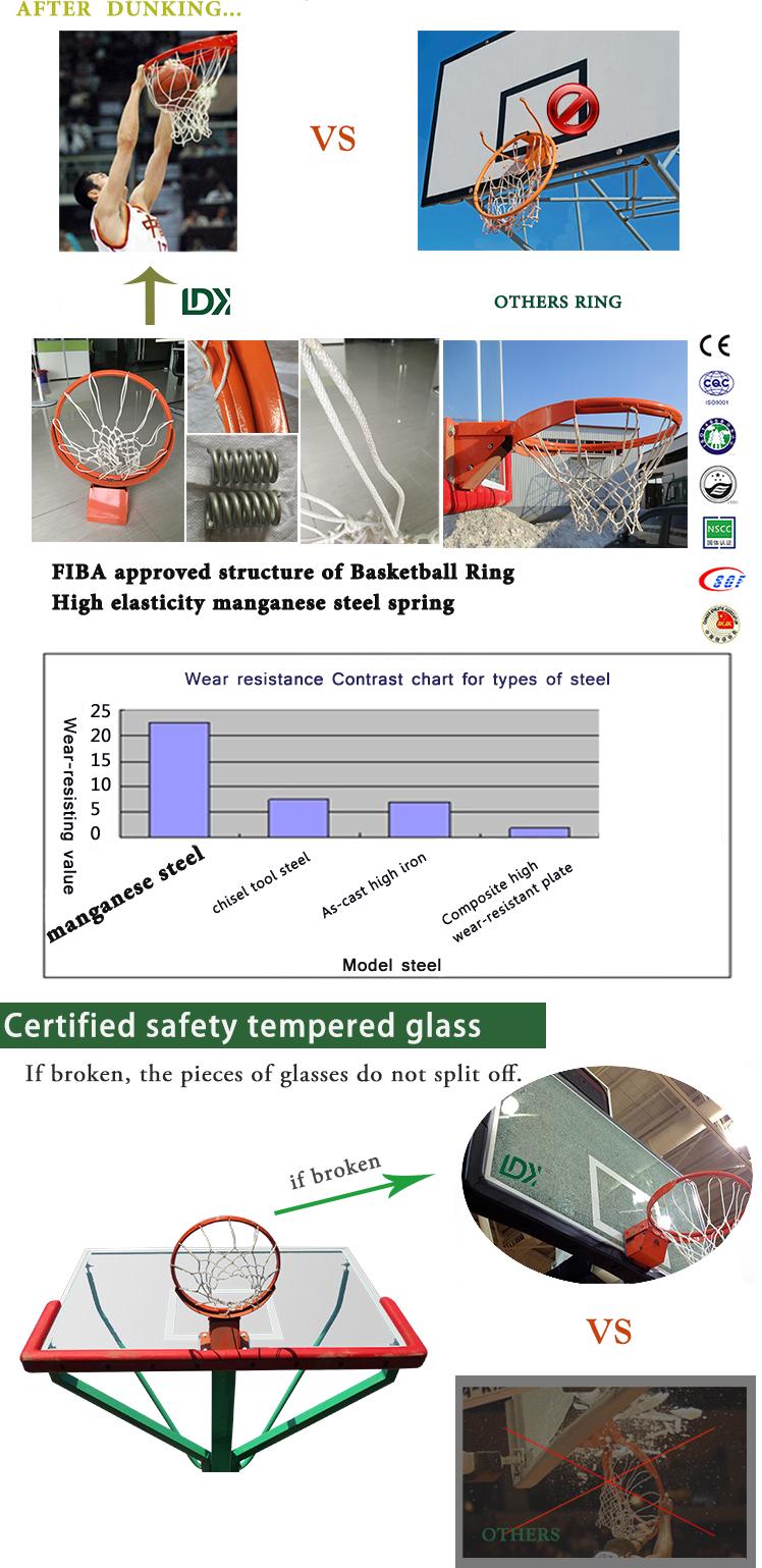 Basketball uprights outdoor hydraulic basketball hoop