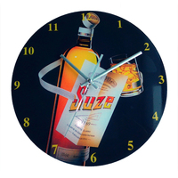 european style wall clock decor glass product 12'' customized face glass creative wall clock