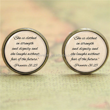 Proverbs 31 Earringshe Is Clothed In Strength And Dignity Earring