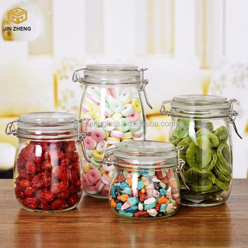 Clear Airtight Glass Stash Jars For Cookies With Glass Lid Buy