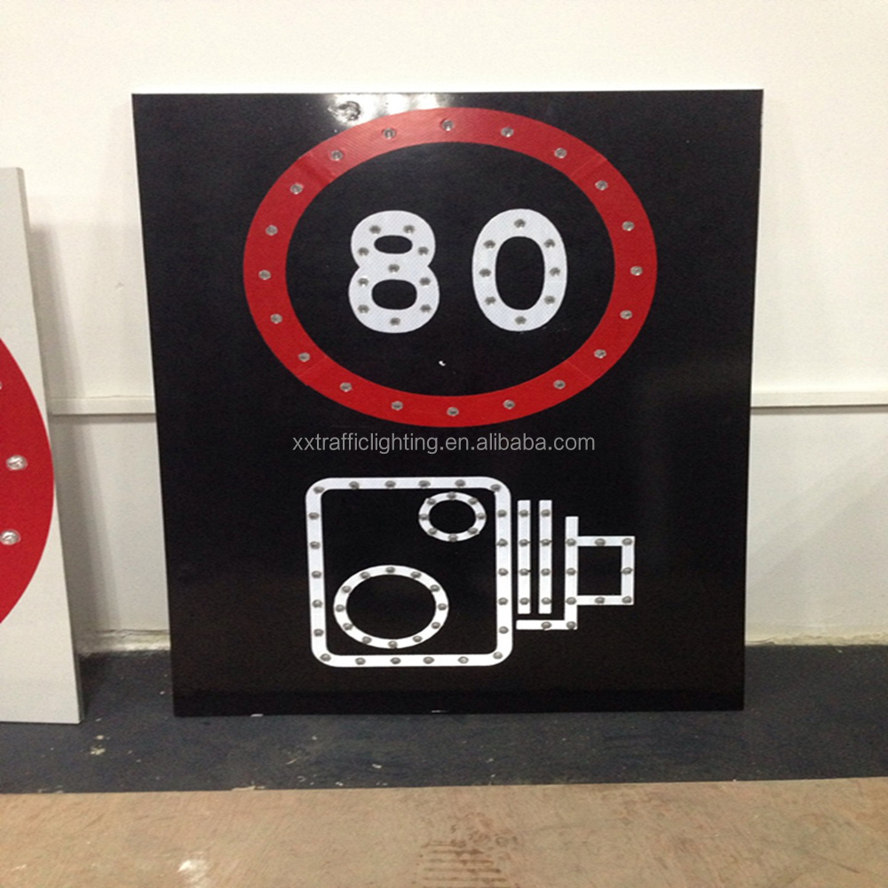 CE & ISO certificate Solar led speed limit sign radar