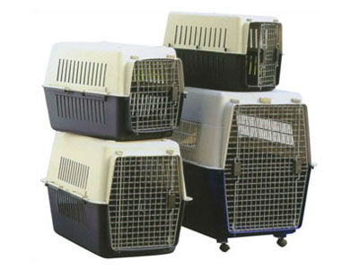 Plastic pet airline cage/dog transport cage