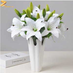 CHINA YIWU Factory direct sale Lily artificial silk flower Valentine's Day gift