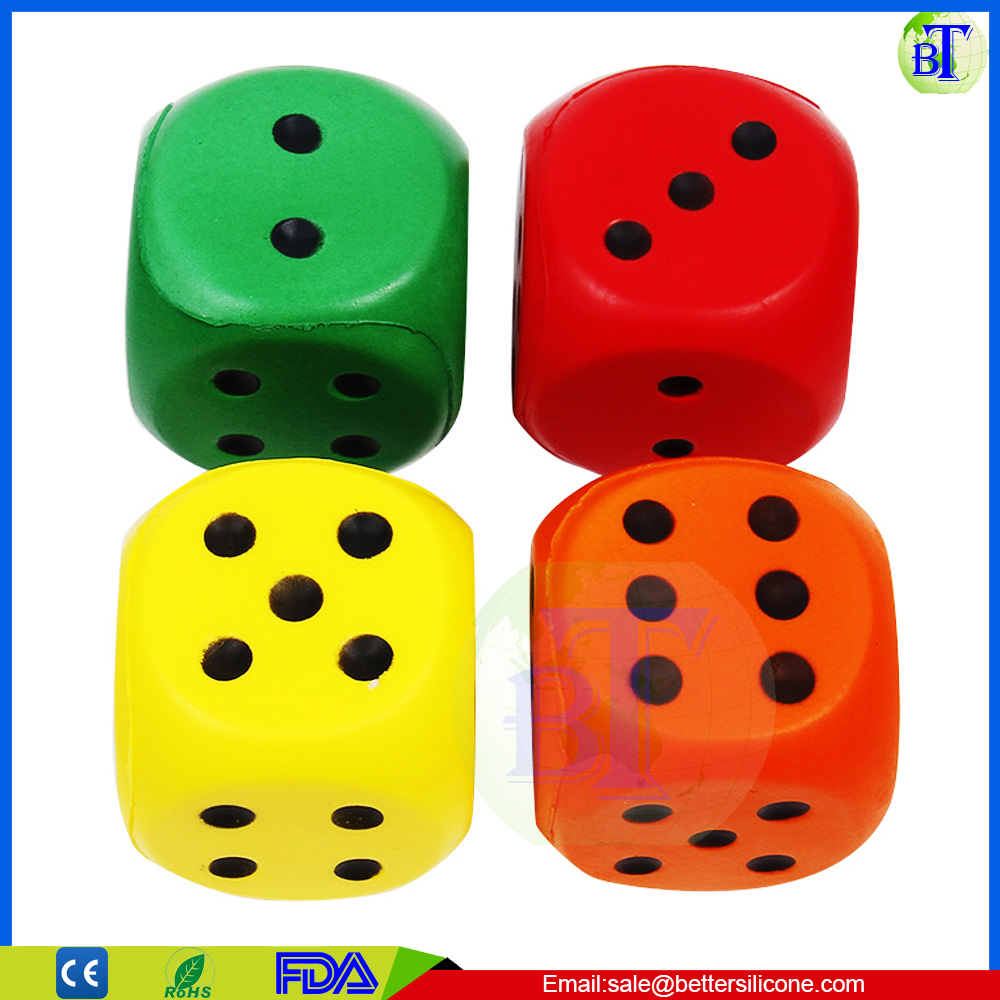 Promotional Custom Stress Ball Square Foam PU Cube Dice Stress Ball