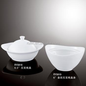 Hotel u0026 Restaurant white porcelain banquet soup platechaozhou ceramic soup bowl Buffet dinner & Hotel u0026 Restaurant White Porcelain Banquet Soup PlateChaozhou ...