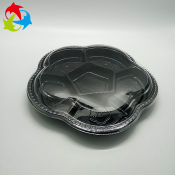 Disposable 6 Compartment Food Plastic Fruit Tray With Lid
