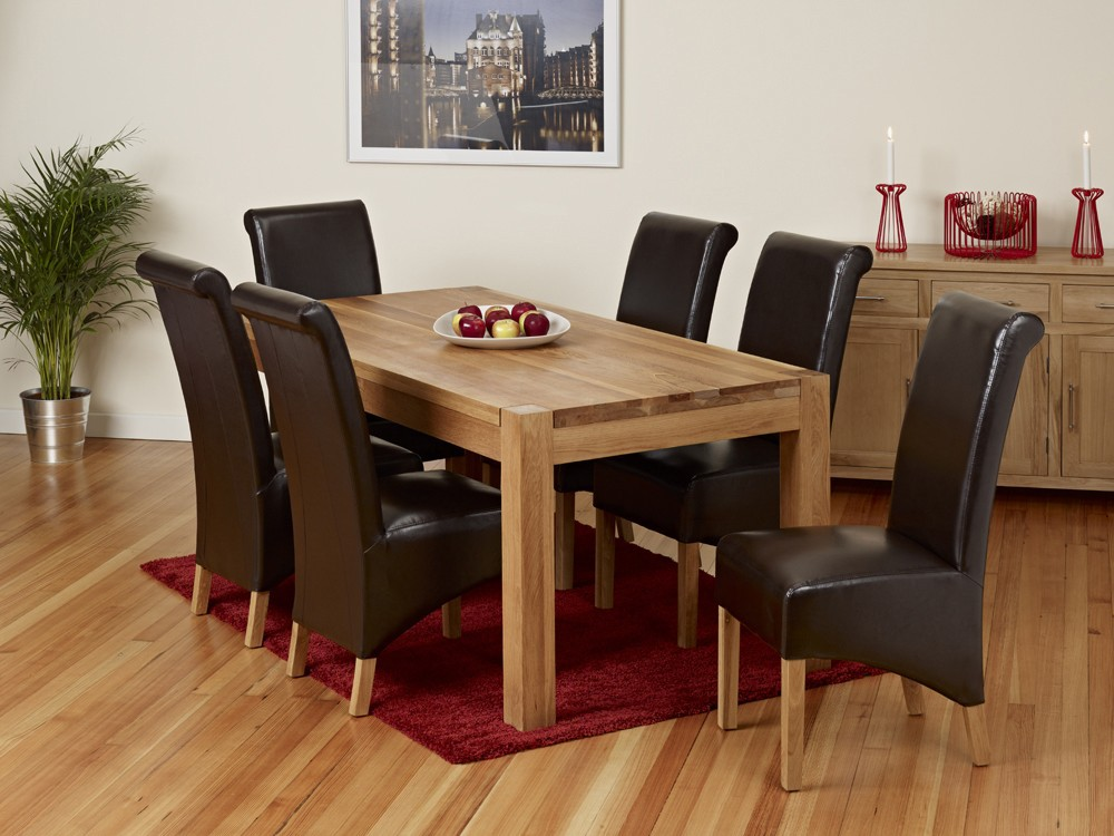 Dining Set 6 Piece Breakfast Furniture Wood 6 Chairs And Table Kitchen  Dinette - Buy Cheap Dining Table And 6 Chairs,Cane Dining Table Chair ...