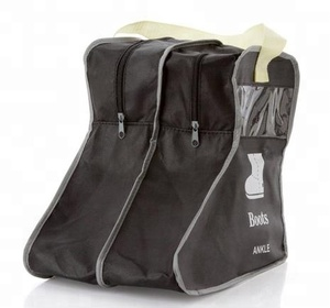 Wholesale dustproof non woven Travel Shoe Bag boots storage bag with handles