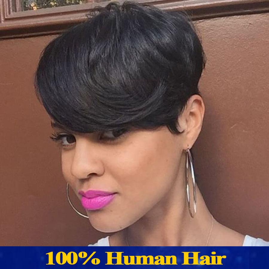 Short Human Hair Wigs  d98d807553cd