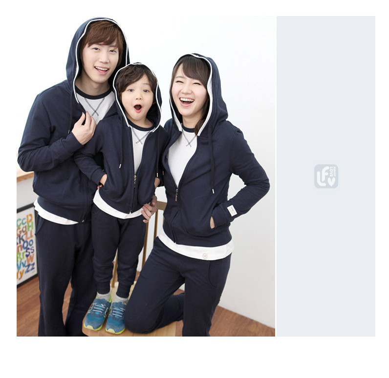 Family Clothing Sports Sets Cotton Active Full Sleeve With Full Pants Family Matching Clothes Casual Family Look