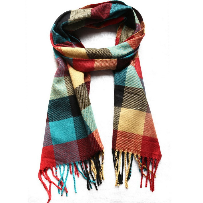 Get Quotations · 80148 2015 Mens Womens Fashion Style Scarf Winter Long  Warm Multicolor Designer Tassel Striped Plaid Scarves aa825e371aa