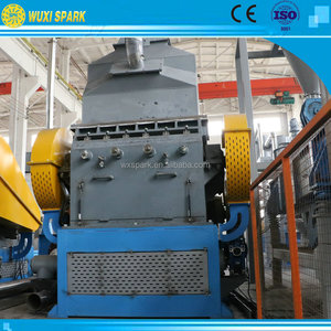 Full automatic tire rubber granule recycling machine/used tire cutting machine for sale