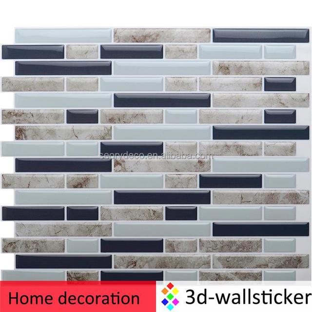 Europa Beliebte Wand Fliesen Designs Küche Backsplash Wasserdichte 3d  Aufkleber In Blatt