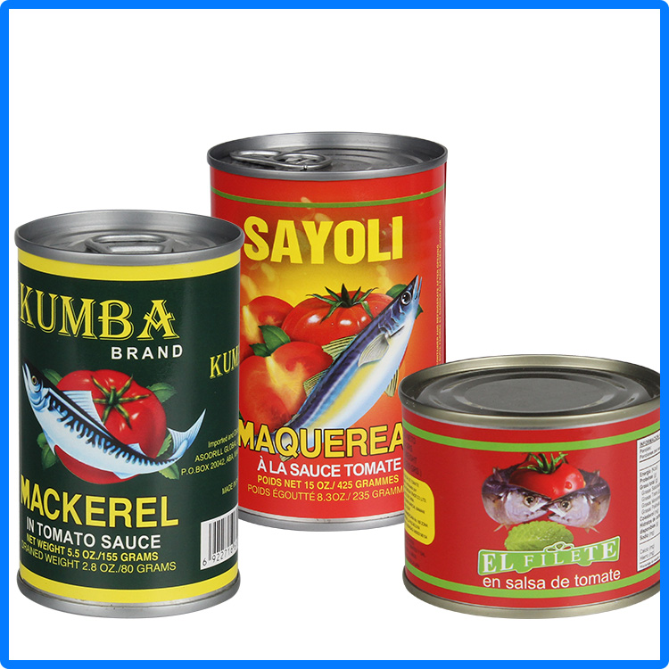 Chinese famous canned food mackerel fish in tomato sauce