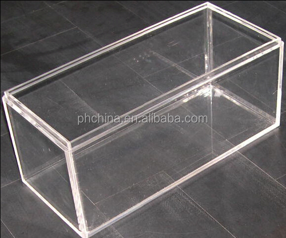 YKL 089 Rectangle Clear Acrylic Display Box With Slide Lid,Plexiglass  Display Case With