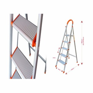 China supplier cheap price aluminum 5 step ladder with high quality