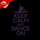 rhinestone heat transfer keep calm and dance on motif for shirts