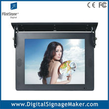 Bus/Car ceiling mount 1080P HD 15 inch lcd advertising poster display