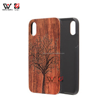 Durable Handmade Real Wood Phone Case Manufacturing, Engraved Hard PC Wooden Cell Phone Case 4.7inch
