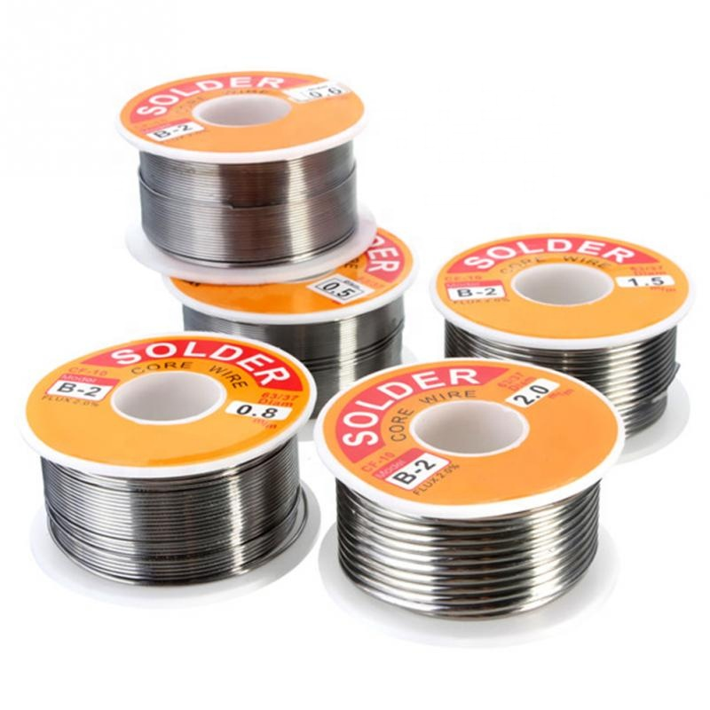 NIEUWE 100g 0.6mm/0.8mm/1mm/1.2mm 63/37 FLUX 2.0% 45FT Tin Lood tin Wire Melt Rosin Core Soldeer Soldeer Wire Roll No-clean