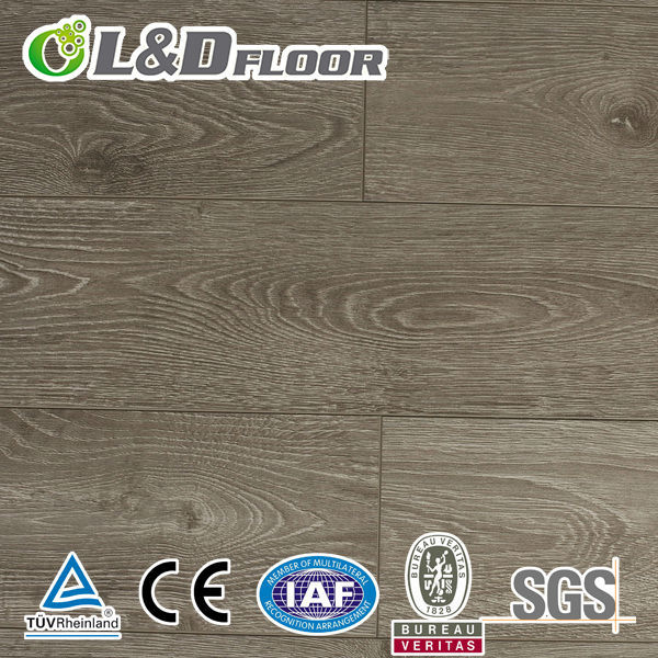 mdf cheap waterproof laminated wooden flooring