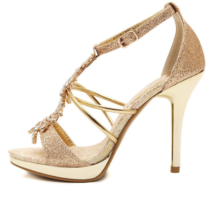 glitter cinderella chic lady bridal shoes women 2018 sandal girls