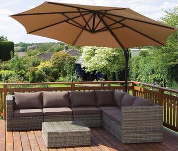 tx d146 7pcs outdoor furniture liquidation l shape brown rattan sectional sofa set