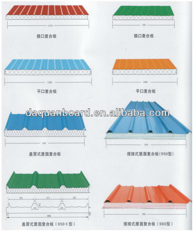 Best Selling DQ Building Materials EPS Sandwich Panel for Light Gauge Steel Prefab House