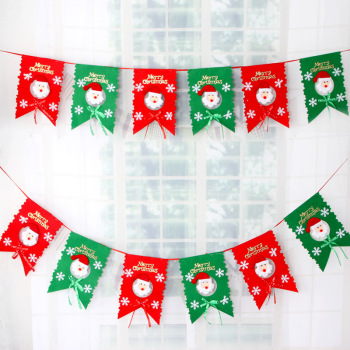 wholesale christmas decorations flags christmas hanging wall bunting christmas banners - Christmas Wall Hanging Decorations