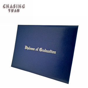 Custom Foil Gold Logo A4 Diploma Degree Certificate Cover