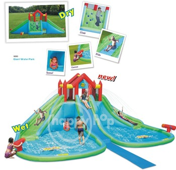 Happy hop 9283 giant water park the splash water park for Happy hop inflatable water slide