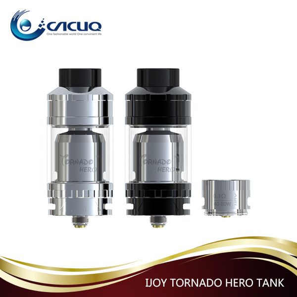 Top Selling 25mm Diameter IJOY Tornado Hero sub ohm tank with DIY coil 5.2ml Capacity