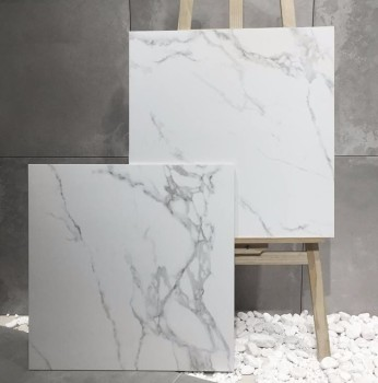 Carrara Design Ceramic Polished And Matt Snow White Marble Look 24x24 Porcelain Floor Tile Price