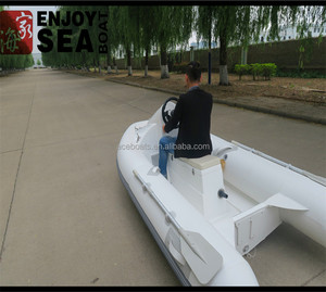 Inflatable mini jet ski RIB-330 electric jet ski fiberglass hull and PVC  pontoon RIB-330 for sale!!!