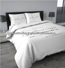 KING SIZE DUVET COVER SET (100% COTTON) - 4 PCS
