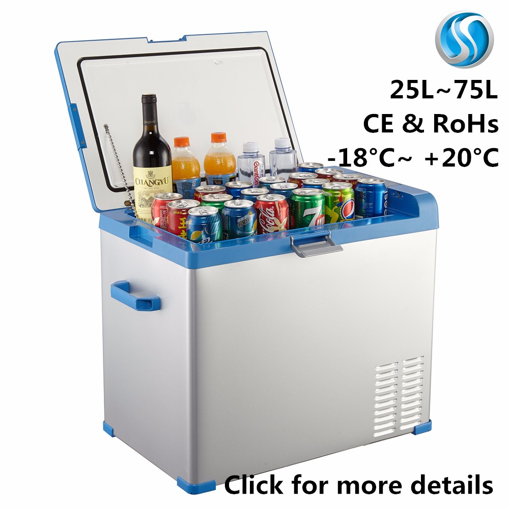 medical electric car cooler 12v mini refrigerator and freezer box 40L