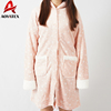 Cheap new design knitted pattern hooded bathrobe with pocket