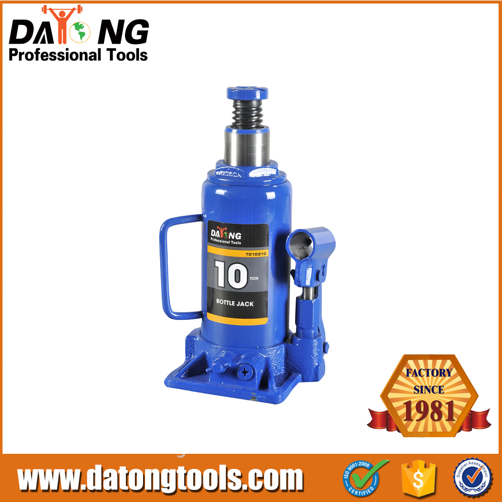 Truck And Car 10Ton Steel Mechanical Bottle Jack With CE GS TUV