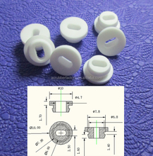 7.8mm hole white electrical rubber grommet plug for hole grommet with rectangular hole