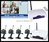 2.4G wireless QUAD WIRELESS 4 mini Camera DVR Security camera System