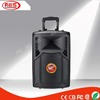 1.0 active subwoofer powered speaker plastic remote control case with trolley and wheels