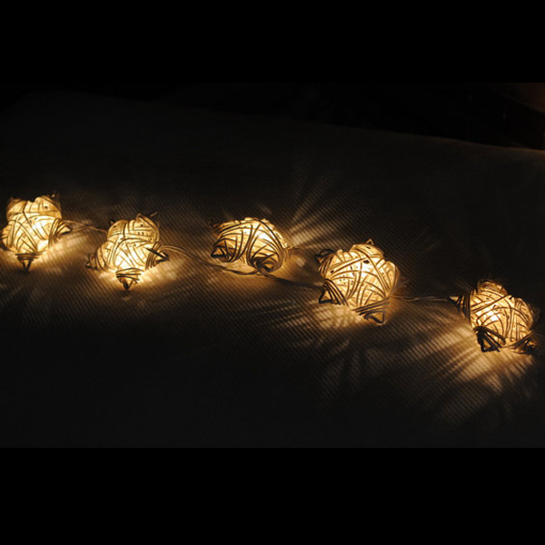 Rattan Star Night Light HNL085