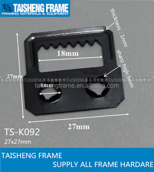 Tsk092 Pozzi Two Holes Hanger Photo Frame Accessories Picture Frame Self  Fix Sawtooth Hanger With Two Holes 27x27mm - Buy Quality Picture Frame